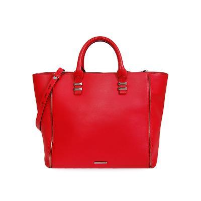perry mini zipper tote bag red